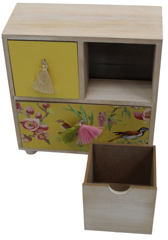 Jewelry Box Small Storage 3 Draws For Makeup Jewellery Creams Or Little Toys