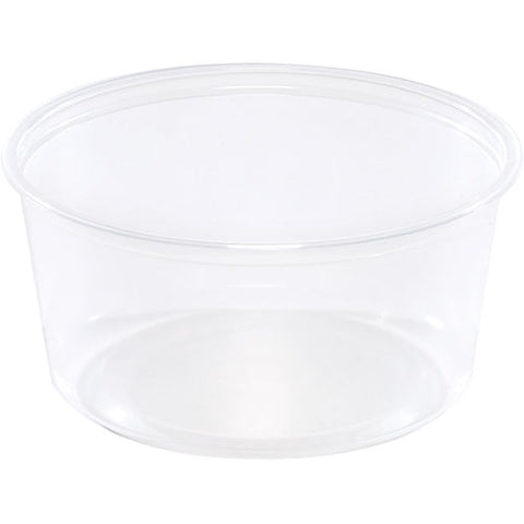 500 X Pro-Kal 12oz Deli Containers Round Clear Plastic Food Containers