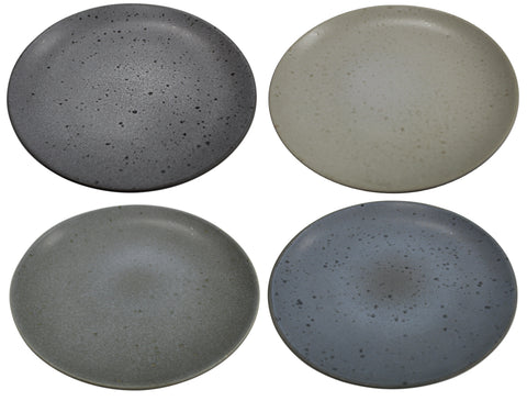 20cm Side Salad Plates Stoneware Dinner Plates Matt Marble / Speckle Effect