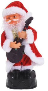 Dancing Santa WIth Music & Lights 20cm Tall Christmas Decoration Father Christma