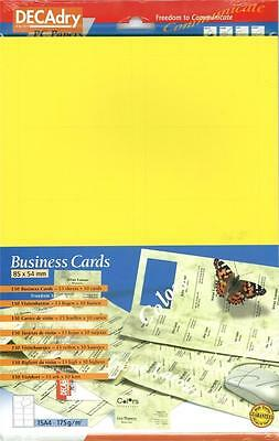 Decadry SCB 7705 150 Yellow Business Cards Make your own Business cards