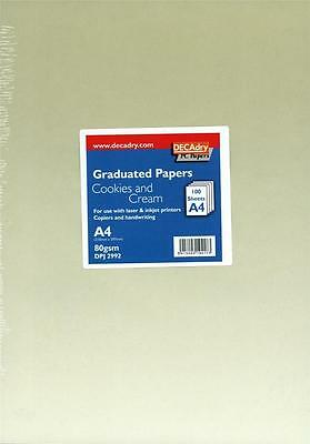 Decadry DPJ2992 Cookies And Cream Graduated A4 Paper Writing Paper