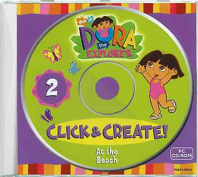 Dora the Explorer at the Beach - Fun Games Childrens Kids PC CD-ROM