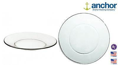 Anchor Hocking 86037 Large Glass Pie Dinner Plate Serving Dish