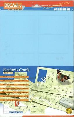 Decadry SCB 7703  150 Blue  Business Cards Make your own Business cards