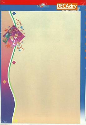 DECADRY OPF-3616  Christmas Letterhead Party Themed A4 Paper, Certificate Paper