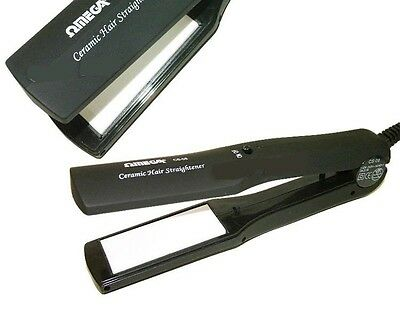 New: Ceramic Hair Straighter with Non Stick Ceramic Plates 20508 Omega