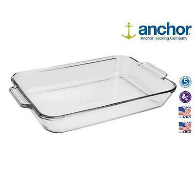 Anchor Hocking 81936 Large Glass Rectangle Baking Dish Oven Tray