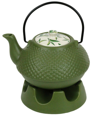 Japanese Teapot Green Pimple With Teapot Warmer Ceramic Jameson & Tailor 6 Cup
