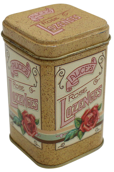 Vintage Ancient Decorative Collectable Lozenges Metal Trinket Box Small Metal Container