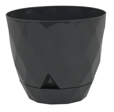 Dark Grey Diamond Shape Modern Look Plant Pot Indoor / Outdoor 2.4 Litre Planter