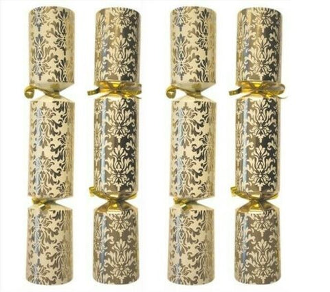 Bulk Pack Catering Large Christmas Crackers Box of 50 Luxury Cream & Gold