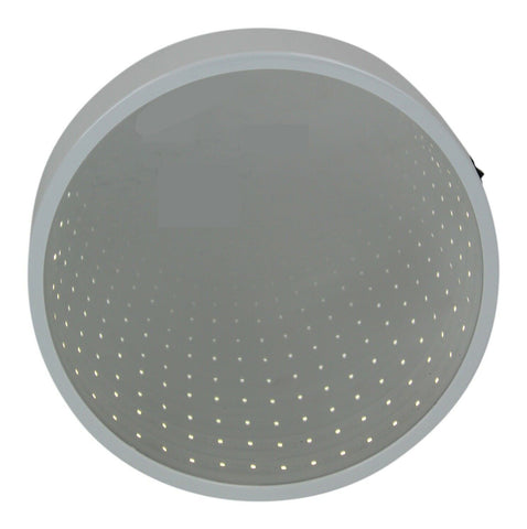 42 LED Round Infinity Mirror | Light Up Sensory White Mirror 25cm