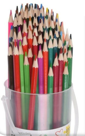 100 Coloured Pencils Drawing Colouring Pencils Pack Of 100 Tub Artisa