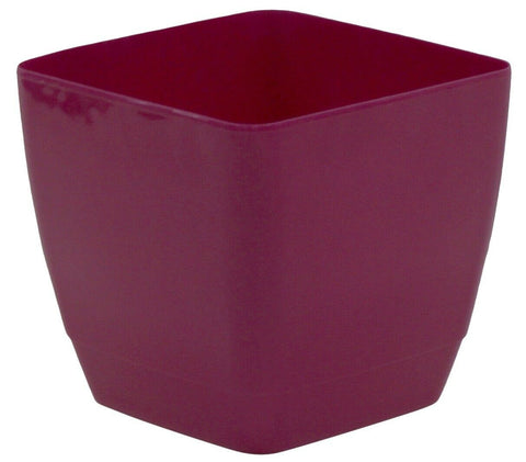 Set Of 4 Indoor Square Plant Pots 16cm Square Indoor Planters Pink