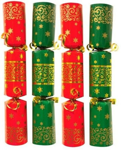 Bulk Pack Catering Large Christmas Crackers Box of 50 Luxury Red & Green Cracker