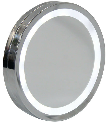 LED Cosmetic Travel Mirror Shaving Mirror Make-up Chrome Finish 3 x Magnify