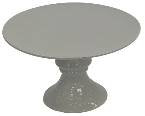 31cm Cake Stand On Pedestal Centerpiece Cake Stand Ornate Grey