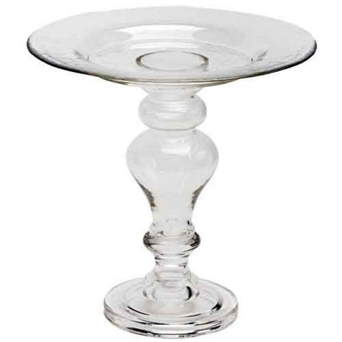 Table Top Tall Glass Pedestal Stand 24cm Tall Centerpiece Cake Stand Ornate
