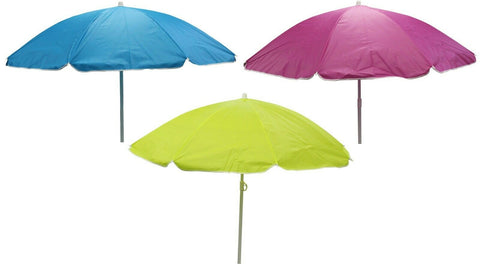 Bright Parasol Garden Umbrella Beach Shade 137cm Diameter Bright Colours