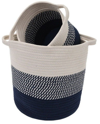 Set of 3 Rope Planters Plant Pots Indoors / Outdoors / Laundry Storage Basket