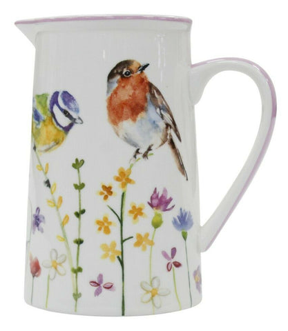 Leonardo Collection Fine China 600ml Jug Garden Birds Design Tea Milk Coffee Jug