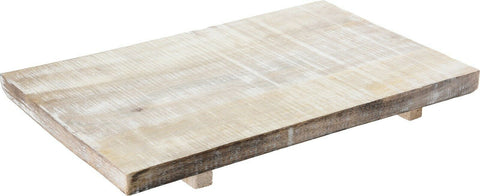 LARGE 40cm White Wood Rectangle Serving Board Presentation Board Raised