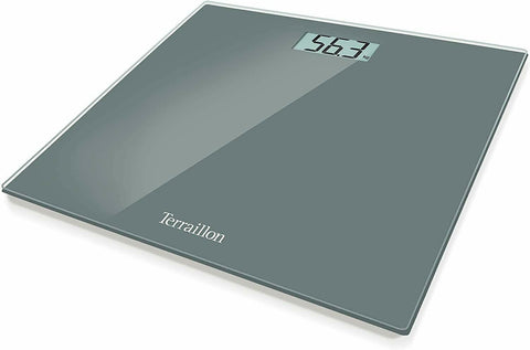 Terraillon Electronic Bathroom Scales, Ultrathin, Automatic Big LCD Screen GREY