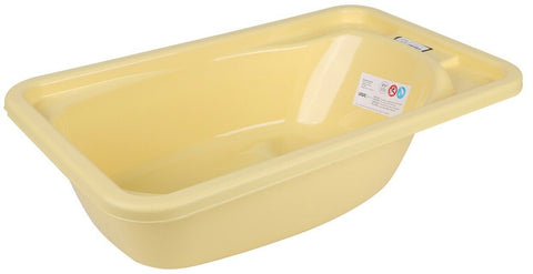 Yellow Baby Bathtub Baby Bath Suitable From Birth Head Support & Soap Tray