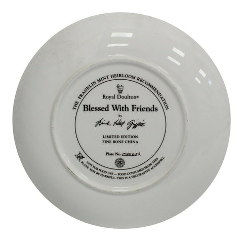 Royal Doulton China Blessed With Friends Limited Edition Plate Number MA1652