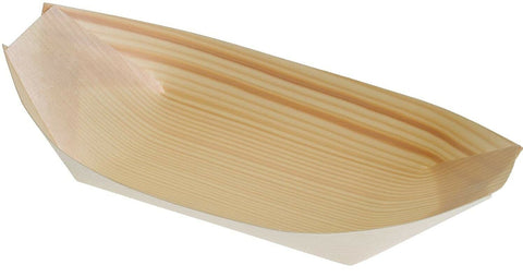 Eco Friendly Wood Boats Serving Presentation Dishes Bowls 13cm x 8cm Medium