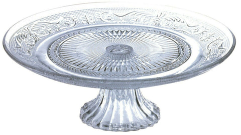 Large 29cm Glass Cake Stand On Pedestal Fruit Plate Centerpiece Raised Plate
