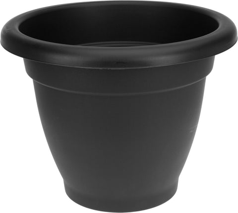 40cm Large Round Black Round Plant Pot Planter
