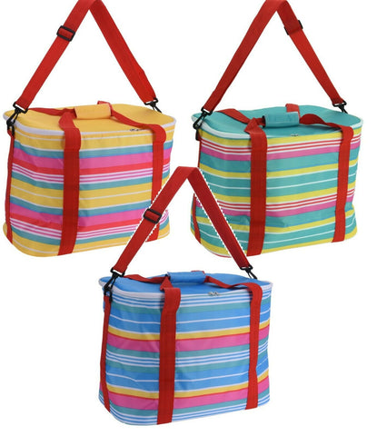 30 Litre Large Cooler Bag Picnic Insulated Freezer Bag With Zip Bright Colours