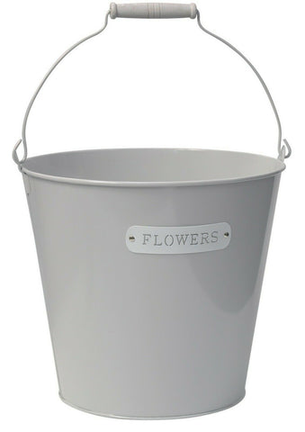 10 Litre Bucket Plant Grey Planter Plant Pot Flower Planter