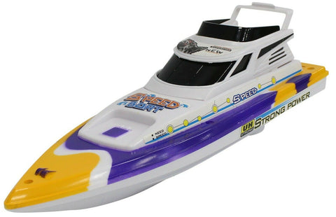 Large Toy Motor Boat Speed Boat Yellow 32cm Boat For The Bath Battery Operated