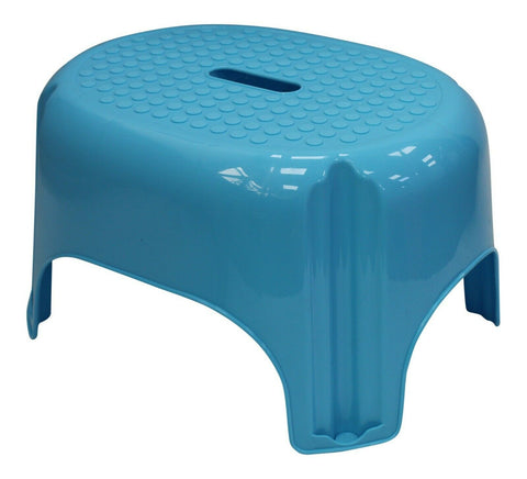 Bright Coloured Anti Slip Stepping Stool, Bathroom, Kitchen Stool Blue