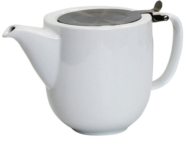 Whittard 1 Litre Teapot 5 Cup Teapot White Ceramic Tea pot With Infuser Pao