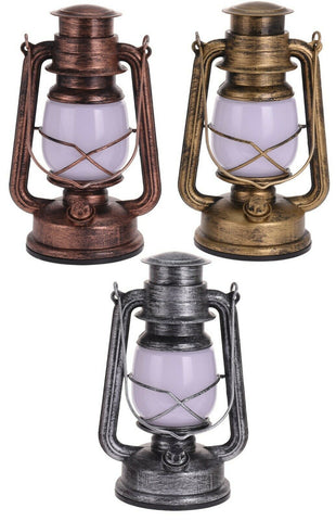 Vinatge Battery LED Gas Style Lantern Light 21 Led Metal Dimmable Hurricane