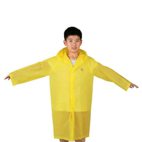 Children's Rain Poncho Reusable Rain Wear Waterproof