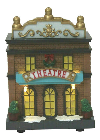 Lightup Christmas Ornament - Miniature Theatre Mini Festive Xmas Scene 12.5cm