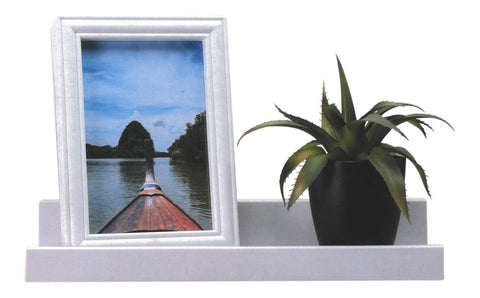 White Floating Shelf With Matching Photo Frame Depth Display Shelves