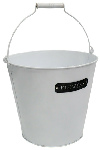 10 Litre Bucket Plant White Planter Plant Pot Flower Planter