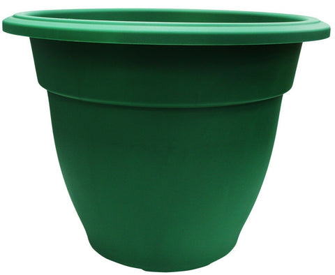 Extra Large 55cm Round Barrel Planter Plastic Plant Pot Flower Planter Green