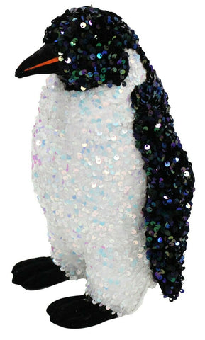 28cm Tall Penguin With Black & White Sequins Christmas Ornaments