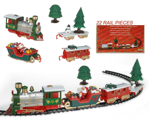 Christmas Gift Train With Music & Lights Toy Christmas Train Track Set Battery