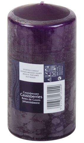 SPAAS 60 Hour Pillar Candle Scented Candle Blackcurrant Scent Purple Candle