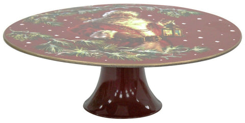 Large 29cm Christmas Cake Stand On Pedestal Fruit Plate Centerpiece Raised Plate