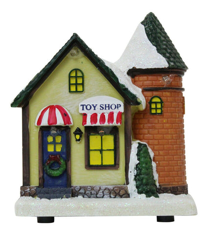 Lightup Christmas Ornament - Miniature Toy Shop Mini Festive Xmas Scene 12.5cm