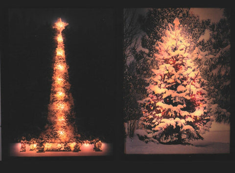 Large 3D LED Light Up Canvas Pictures 30cm x 40cm Christmas Tree In Snow